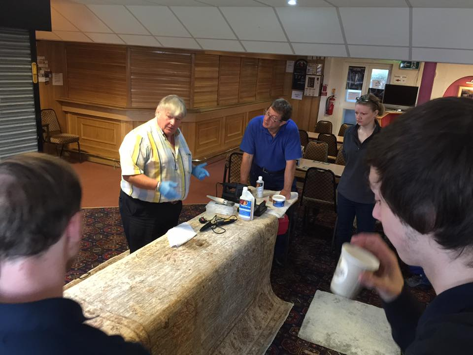 Teaching stain removal at Cheshire Rug Cleaning