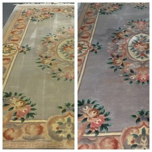 Cheshire Rug Cleaning Before & After Chinese rug