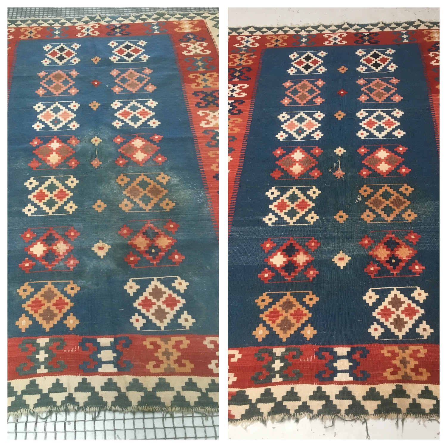 Cheshire Rug Cleaning Before & After Kilim Rug