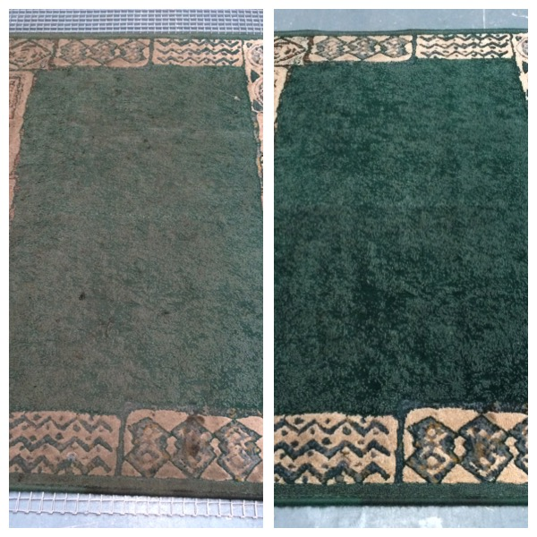 Rug Cleaning Cheshire Before & After Polyprop rug