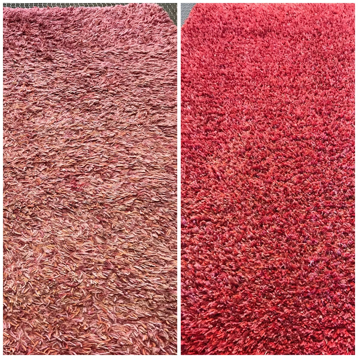 Cheshire Rug Cleaning red shaggy rug