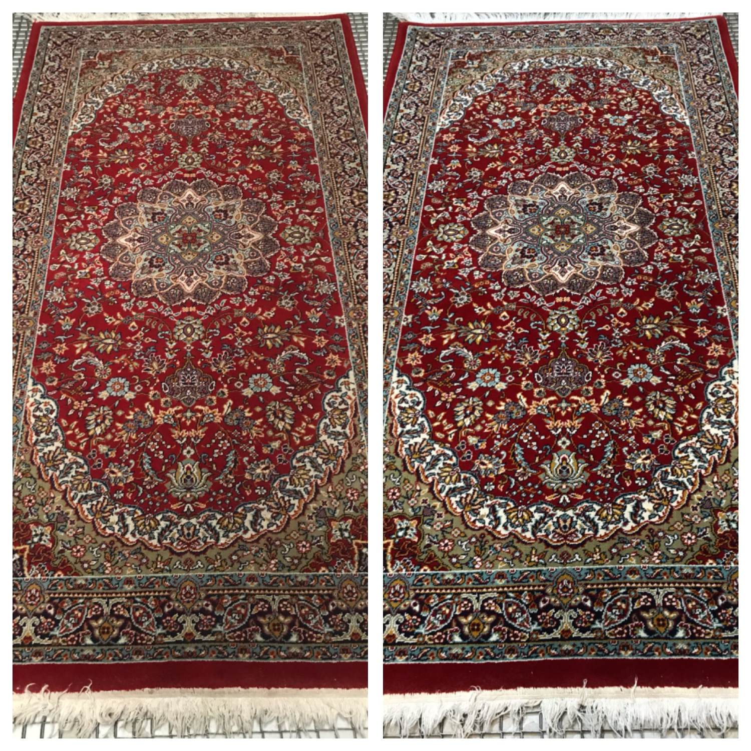 Rug Cleaning Cheshire - red rug
